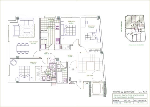 Pisos noia pisos en venta construcciones ces s l en for Planos de pisos de lujo